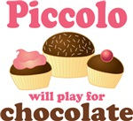 Chocolate Piccolo Music T-shirts