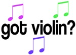 Got Violin T-shirts and Music Gifts