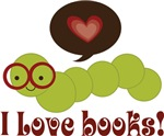 Bookworm I Love Books Gifts, Mugs and Tees
