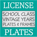 Vintage Class Of License Frames