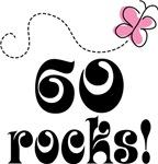 Cute 60 Rocks 60th Birthday T-shirts