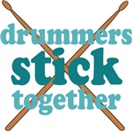 Drummers Stick Together Band T-shirts and Gifts