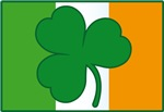 Irish Flag With Shamrock T-shirts
