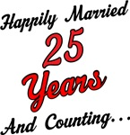 25th Anniversary Gift Happily Married