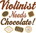 Violinist Chocolate Humor Music T-shirts