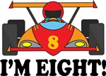 8th Birthday Race Car I'm Six T-shirts