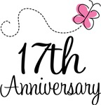 17th Anniversary Pink Butterfly Keepsake Gifts