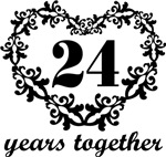 24th Anniversary Heart Gifts Together