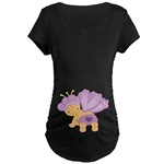 Cute Belly Print Maternity T-shirts