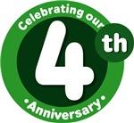 4th Anniversary Green Gift T-shirts