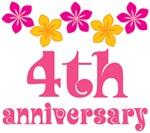 4th Anniversary Gift Hawaiian Themed