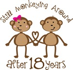 18th Anniversary Funny Monkey Gifts