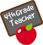 Cute Apple Slate 4th GradeTeacher Gifts and Shirts