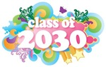 Retro Grad Class Of 2030 Gift Tee Shirts