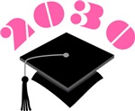 2030 Pink Graduation Hat Kids T-shirts
