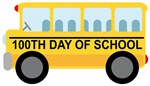 100th DAY OF SCHOOL BUS GIFTS AND T SHIRTS