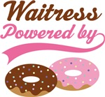 Waitress Powered By Doughnuts Gift T-shirts