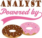 Analyst Powered By Doughnuts Gift T-shirts