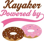 Kayaker Powered By Doughnuts Gift T-shirts