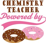 Chemistry Teacher Powered By Donuts Gift T-shirts