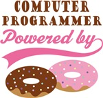 Computer Programmer Powered By Donuts Gift Tees