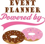 Event Planner Powered By Donuts Gift T-shirts