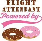Flight Attendant Powered By Donuts Gift T-shirts
