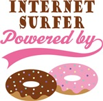 Internet Surfer Powered By Donuts Gift T-shirts