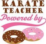 Karate Teacher Powered By Donuts Gift T-shirts