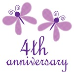 4th Anniversary Gift Purple Butterfly