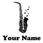 PERSONALIZED SAXOPHONE GIFTS AND TSHIRTS