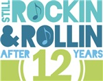 12th Anniversary Rock N Roll Tshirts