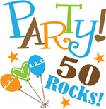 50th Birthday Party 50 Rocks T-shirts