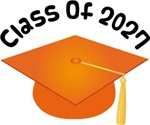 2027 School Class Graduation (Orange)