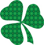 Irish Shamrock Plaid Clover T-shirts
