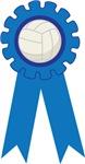 Volleyball Blue Award Ribbon Tee Shirts and Gifts