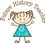 History Teacher Stick Girl Occupation T-shirts