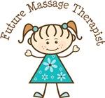 Future Massage Therapist Stick Girl Occupation Tee