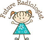 Future Radiologist Stick Girl Occupation T-shirts