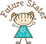 Future Skater Stick Girl Occupation T-shirts