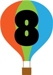8th Birthday Air Balloon Childrens Clothing