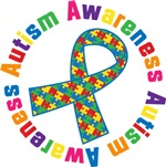 Autism Awareness Ribbon Tshirts