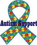 Autism Support Ribbon Tshirts