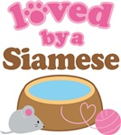 Loved By A Siamese Tshirts