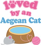 Loved By An Aegean Cat T-shirts