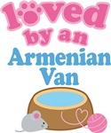 Loved By An Armenian Van Cat T-shirts