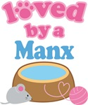Loved By A Manx Cat T-shirts