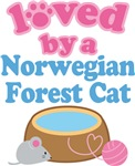 Loved By A Norwegian Forest Cat T-shirts
