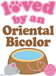 Loved By An Oriental Bicolor Tshirt Gifts