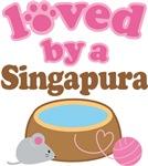 Loved By A Singapura Tshirt Gifts